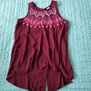 Embroidered Tunic Tank